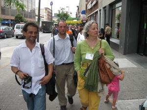 Josep Pera Colome, Oscar Craviotto and Nathalie Reverdin, Barcelona Delegates