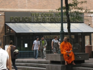 Ven. Rewatha Thero at 1 Police Plaza